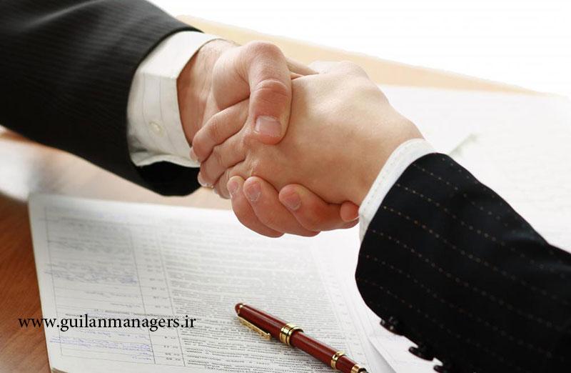 handshake and contract - چگونه مشتری را به قرارداد نزدیک کنیم؟