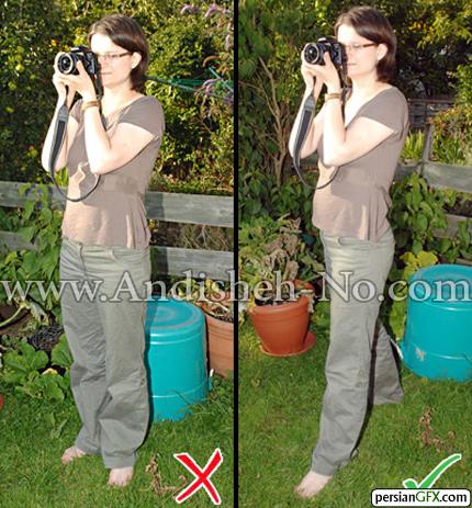 17The%20legs%20in%20the%20standing%20shooting - روش صحیح گرفتن دوربین در دست