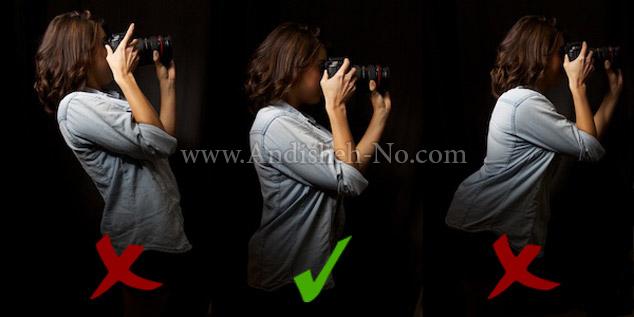 2Create%20a%20camera%20in%20hand%20while%20standing - روش صحیح گرفتن دوربین در دست